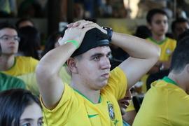 Torcedores teresinenses assistem derrota do Brasil
