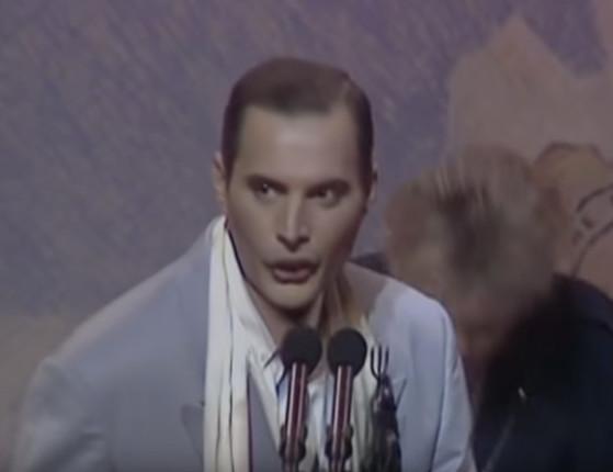 Freddie Mercury fazia, há 30 anos, a sua última aparição em público