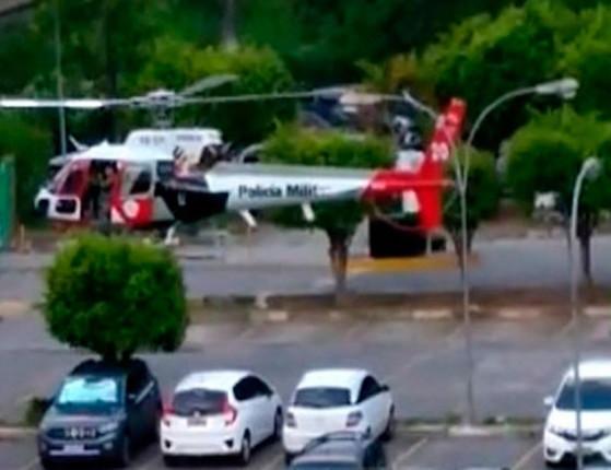 Helicóptero que levava coração para um transplante atinge poste