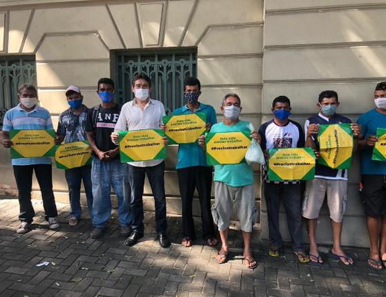 Empresários fazem protesto pela retomada da economia na capital
