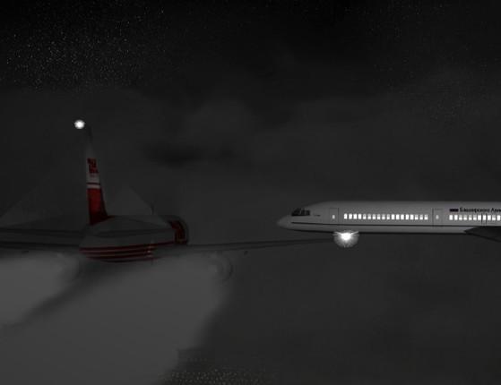 Dois aviões chocam-se em pleno ar, deixando 71 pessoas mortas