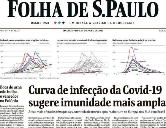 Leia as manchetes dos principais jornais do país desta segunda (13)