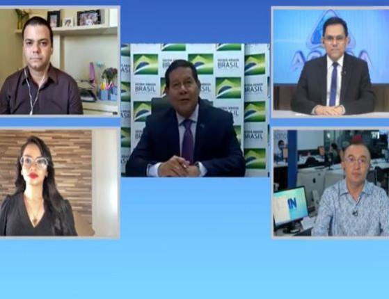 Vice-presidente Mourão participa do quadro Jogo do Poder; assista!