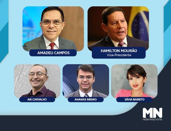 Vice-presidente, Hamilton Mourão, participará do Jogo do Poder hoje