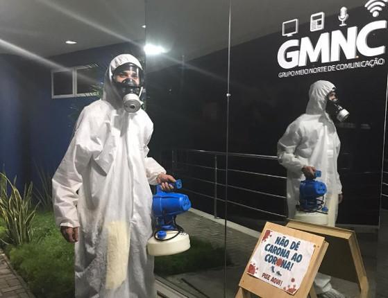 Grupo Meio Norte passa pela  3º etapa de sanitização em sua sede