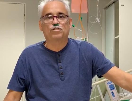 """No hospital com covid-19, Robert grava vídeo: """"Estou lutando muito"""""""