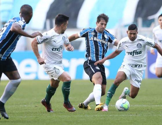 Brasileirão: Palmeiras empata com o Grêmio com gol no fim do jogo