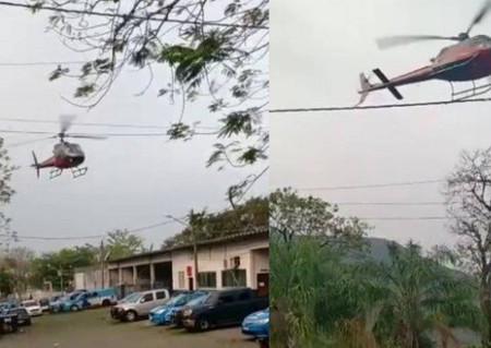 Piloto faz manobra em cima de batalhão após ser rendido  no Rio