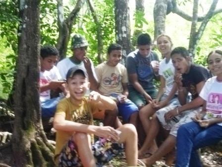 Passeio cultural dos alunos do projovem adolescente no morro do bode