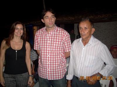 Marden Menezes e Iracema portela foram recebidos em evento particular em Capitão de Campos