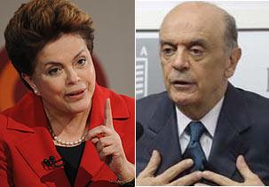 Dilma e Serra terão 1º confronto direto em debate na TV