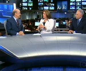 José Serra é entrevistado pelo Jornal da Globo