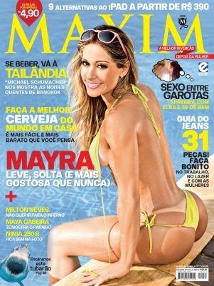 Ex-BBB Mayra Cardi posa de biquíni e diz ser fã de Hebe Camargo