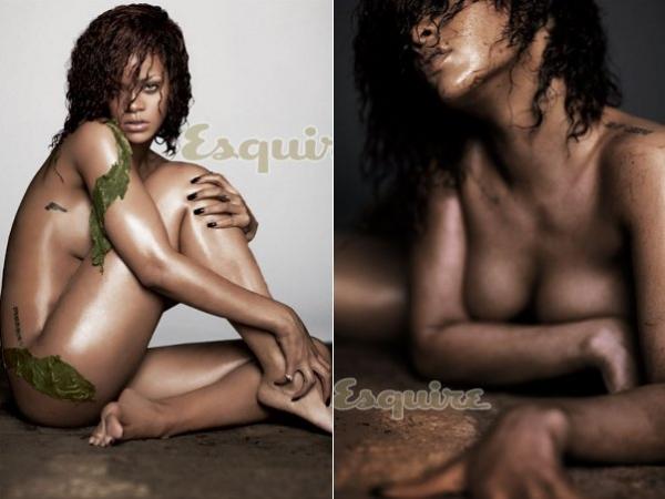 Muito sexy! Rihanna posa nua para revista