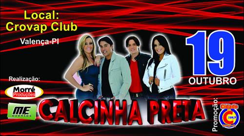 Banda Calcinha Preta se apresenta em Valença dia (19) de outubro
