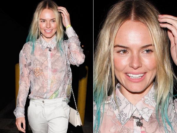 Azul, rosa ou verde? Famosas ousam com mechas coloridas nos cabelos