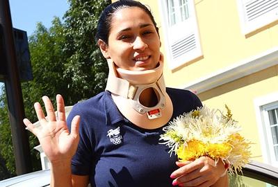 Mesmo após bater cabeça, Jaqueline pode está na Copa do Mundo