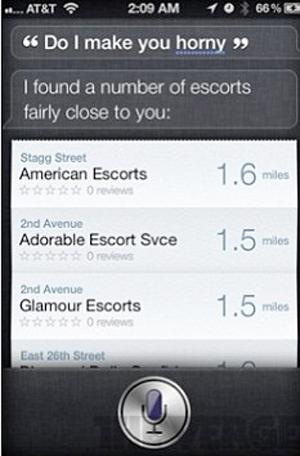 Siri, o assistente pessoal do iPhone 4S, te ajuda a encontrar garotas de programa