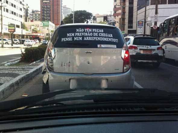 Carros chineses sao campeoes em reclamacoes dos consumidores