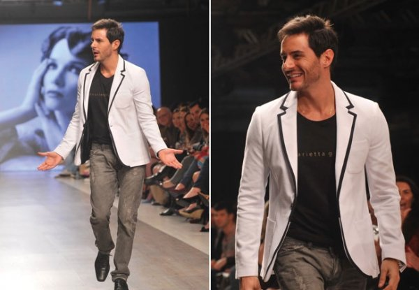 Ricardo Tozzi arranca suspiros da platéia em desfile de moda