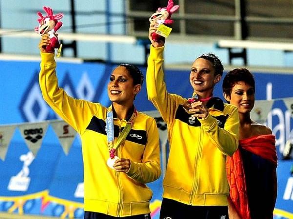 Dueto brasileiro fica em 3º e leva o bronze no nado sicronizado