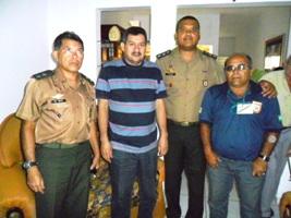 TC Arcanjo Nogueira, visita Junta Militar de Pedro II