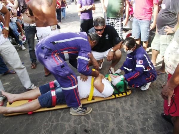 Estudante sofre acidente de moto