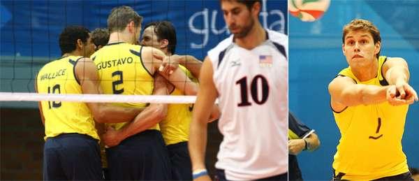 Brasil bate Estados Unidos e garante primeira colocação no vôlei masculino