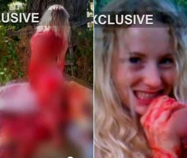 Garota posa nua em carcaça de cavalo e é investigada pela polícia