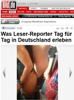 Jogo era entre Bayern e Hoffenheim; torcedor enviou fotos para jornal.