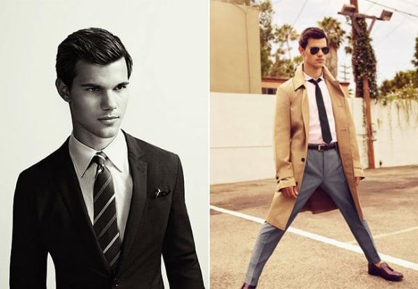 Taylor Lautner posa com visual comportado para revista