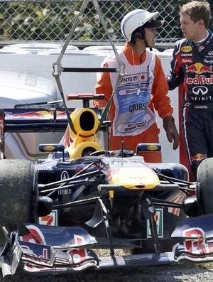 Button mantém domínio e fecha o dia na frente no Japão. Vettel é o terceiro