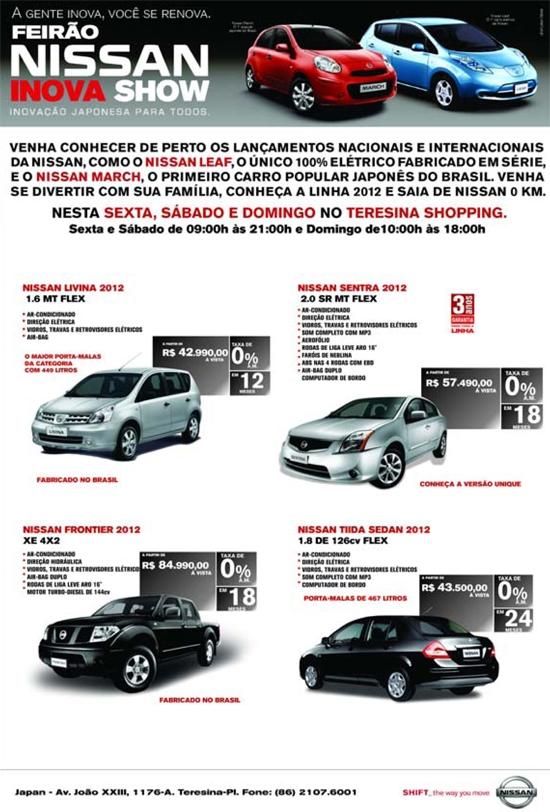 Nissan Inova Show chega a Teresina