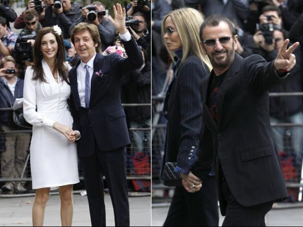 Paul McCartney se casa em Londres pela 3ª vez