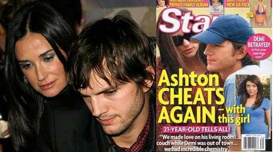 Para salvar casamento, Ashton Kutcher estaria vivendo em