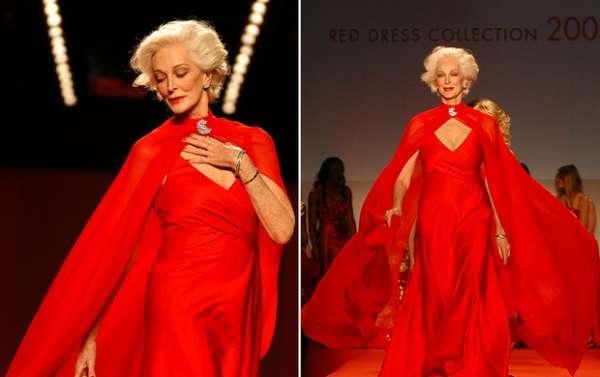 Com 80 anos de idade, americana faz sucesso como modelo