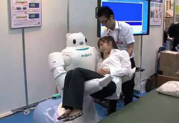 Robô ajuda a carregar pacientes em hospitais do Japão; fotos!