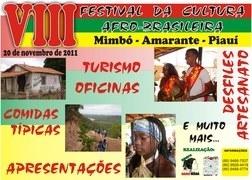 Dia 20 de novembro: VIII Festival da Cultura Afro-brasileira