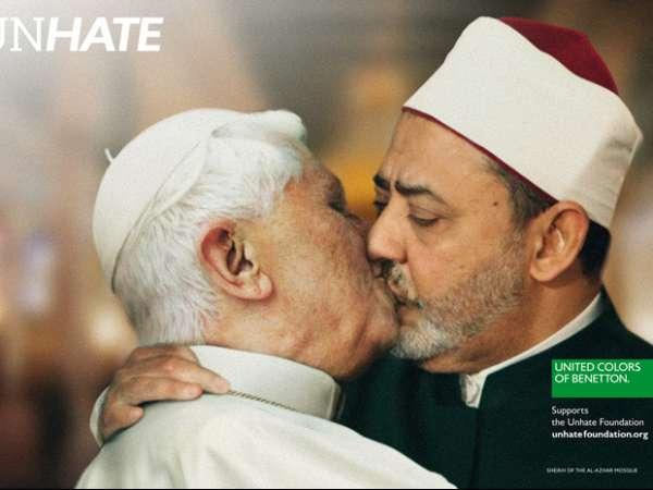 Vaticano vai entrar na Justiça contra fotomontagem do beijo do Papa