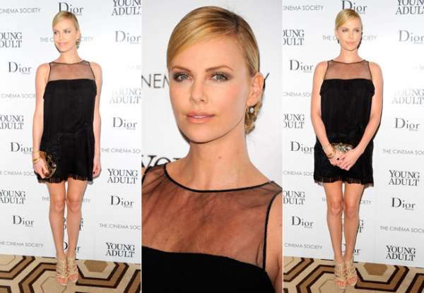 Charlize Theron brilha em evento de cinema e moda
