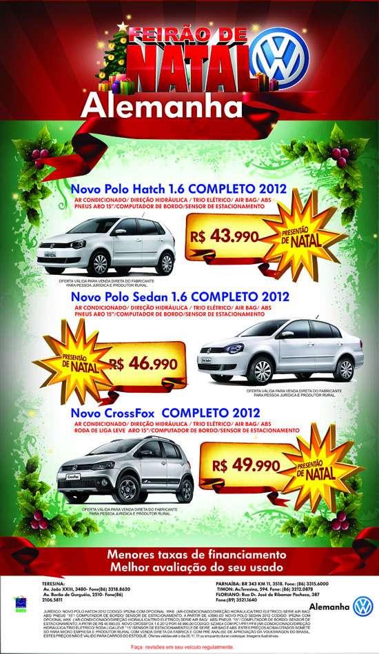 Alemanha Veículos realiza Feirão de Natal com redução de preços em toda a linha Volkswagen
