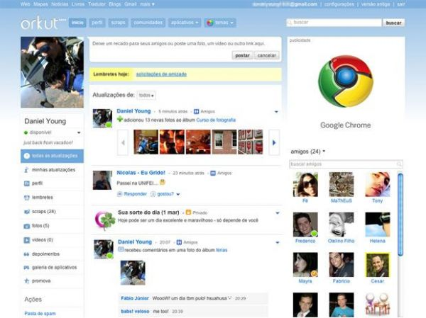 Google pagará multa de R$ 70 mil por perfis falsos no Orkut
