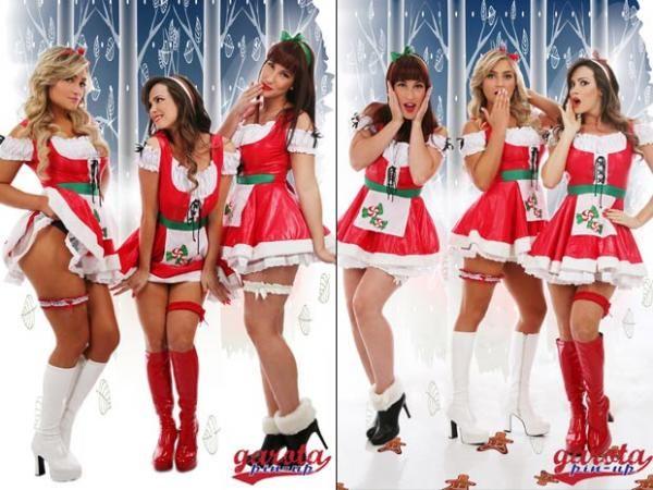 Coelhinhas da Playboy posam e fazem ensaio especial de natal