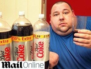 Britânico viciado diz beber 18 latinhas de Coca-Cola Diet por dia