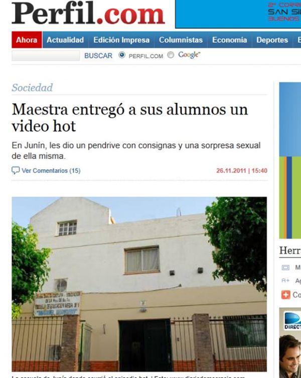 Professora argentina entrega pen drive com cena de sexo para alunos
