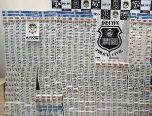 Homem é preso com 10 mil maços de cigarro contrabandeados