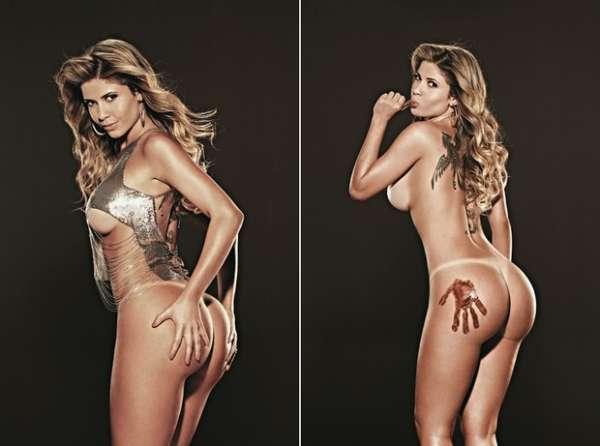 Ex-BBB Cacau se lambuza de chocolate em ensaio sensual para a Playboy; fotos da beldade!