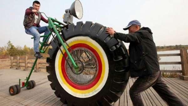 Chinês inventa bicicleta muito louca