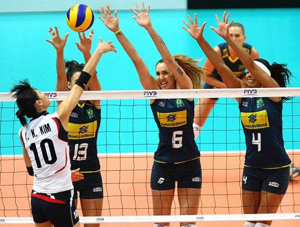 No sufoco, Brasil bate a fraca Coreia por 3 a 2 pela Copa do Mundo de Vôlei