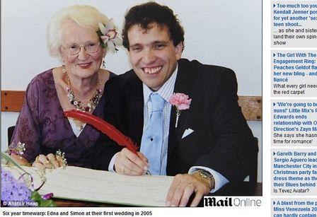 Inglesa de 76 anos renova votos de casamento com marido de 38 anos; veja fotos!